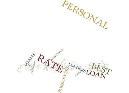 BEST RATE PERSONAL LOANS ONE OF THE MOST SOUGHT AFTER FEATURES Text Background Word Cloud Concept Ilustração
