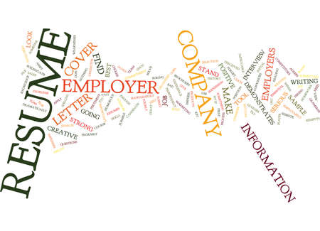 EMPLOYERS VIEW OF YOUR RESUME Text Background Word Cloud Concept