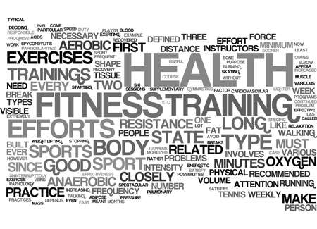 FITNESS AND HEALTH Text Background Word Cloud Concept