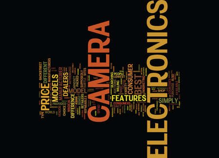 ELECTRONICS CAMERA Text Background Word Cloud Concept