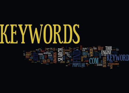 VIND DE BESTE KEYWORDS VOOR UW WEBPAGINA'S Tekstachtergrond Word Cloud Concept