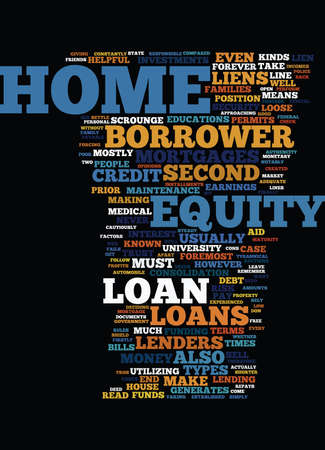 EQUITY LOAN FOR YOUR HOME Text Background Word Cloud Concept