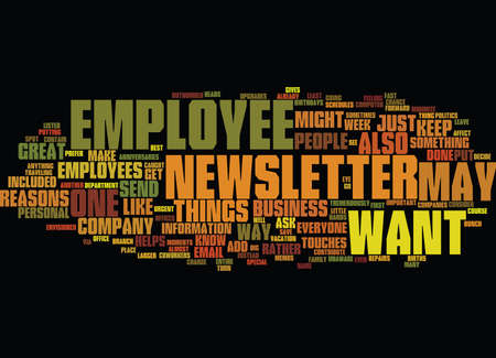 EMPLOYEE NEWSLETTER Text Background Word Cloud Concept Illustration