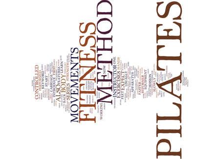 フィットネス ピラティス メソッド本文背景単語雲概念