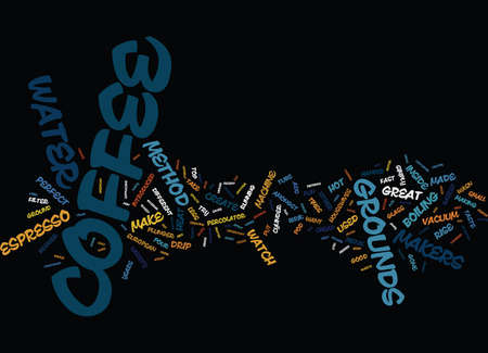 ENJOY ESPRESSO FROM YOUR OWN MACHINE Text Background Word Cloud Concept