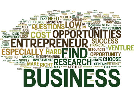 personally: ENTREPRENEUR OPPORTUNITIES Text Background Word Cloud Concept