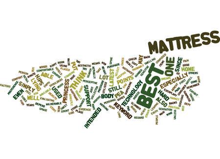 BEST MATTRESS Text Background Word Cloud Concept