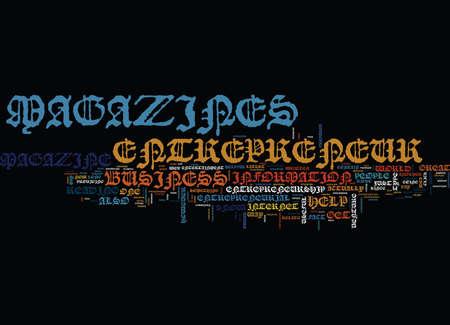 ENTREPRENEUR MAGAZINE Tekst Achtergrond Word Cloud Concept Stock Illustratie
