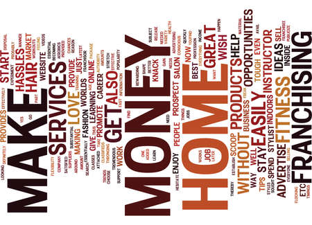 prospect: ESSENTIAL TIPS TO MAKE MONEY AT HOME Text Background Word Cloud Concept Illustration
