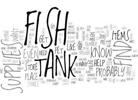 FISH TANK SUPPLIES Text Background Word Cloud Concept
