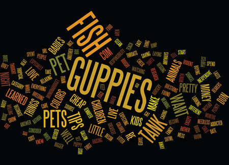 FISH MAKE THE GREATEST PETS Text Background Word Cloud Concept