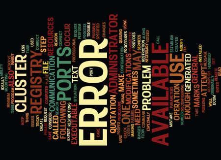 ERROR Text Background Word Cloud Concept