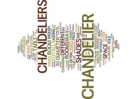 ENHANCE YOUR DECOR WITH DISTINCTIVE CHANDELIERS Text Background Word Cloud Concept