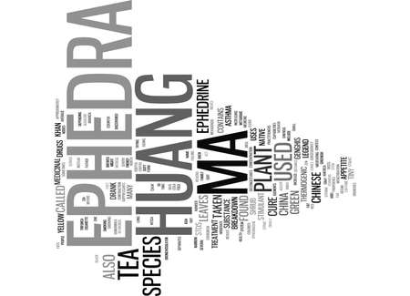EPHEDRA MA HUANG Text Background Word Cloud Concept