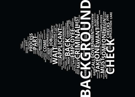 EMPLOYEE CRIMINAL BACKGROUND CHECK Text Background Word Cloud Concept