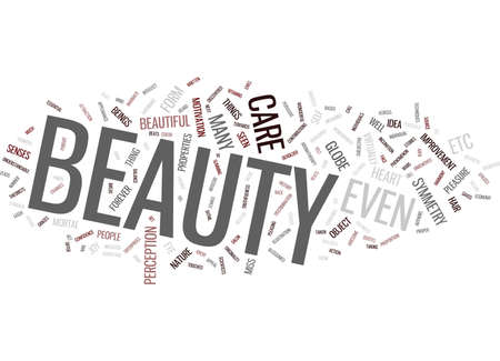 ESSENTIAL BEAUTY TIPS Text Background Word Cloud Concept Çizim