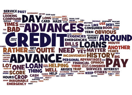 EMERGENCY PAY DAY ADVANCES HELP WHEN YOU NEED IT Text Background Word Cloud Concept