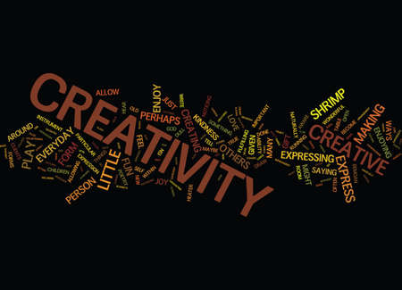 occur: EVERYDAY CREATIVITY Text Background Word Cloud Concept