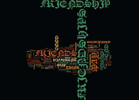 END OF FRIENDSHIPS Text Background Word Cloud Concept