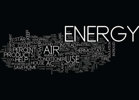 ENERGY TIPS TO HELP YOUR POCKETBOOK AND AMERICA Text Background Word Cloud Concept Ilustrace