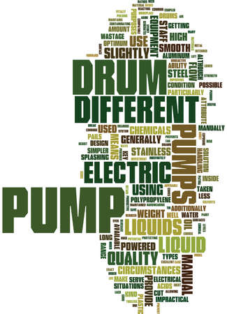ELECTRIC DRUM PUMPS Text Background Word Cloud Concept