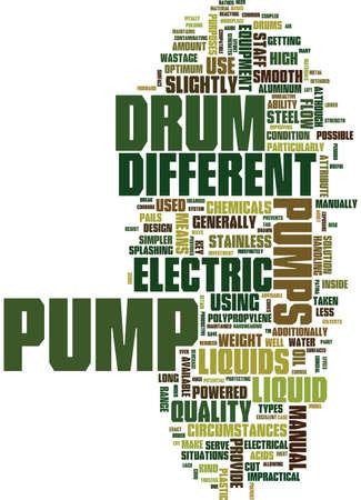 ELECTRIC DRUM PUMPS Text Background Word Cloud Concept