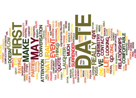 ve: FIRST DATE CHEMISTRY Text Background Word Cloud Concept
