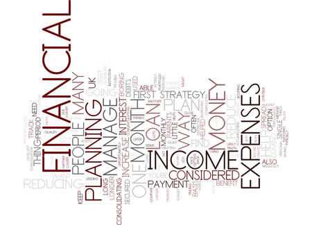 FINANCIAL PLAN YOUR WAY TO SUCCESS Text Background Word Cloud Concept