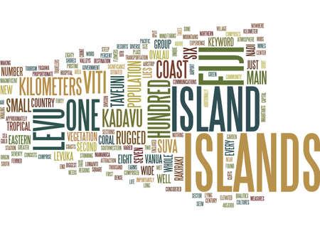 FIJI ISLANDS Text Background Word Cloud Concept Ilustração