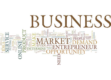 ENTREPRENEUR BUSINESS OPPORTUNITY Text Background Word Cloud Concept Stok Fotoğraf - 82608413
