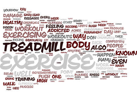 EXERCISE AND HARM Text Background Word Cloud Concept