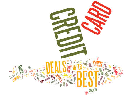 BEST CREDIT CARD OFFER IS STILL POSSIBLE Text Background Word Cloud Concept Illustration
