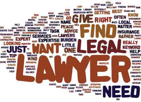 FIND A LAWYER Text Background Word Cloud Concept