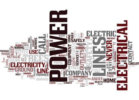 ELECTRICAL SAFETY IN THE HOME Text Background Word Cloud Concept Иллюстрация