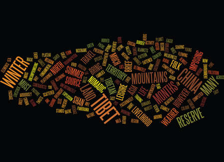 serengeti: EN ROUTE FOR TIBET Text Background Word Cloud Concept