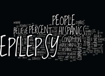 EPILEPSY AND THE HISPANIC COMMUNITY Text Background Word Cloud Concept 向量圖像