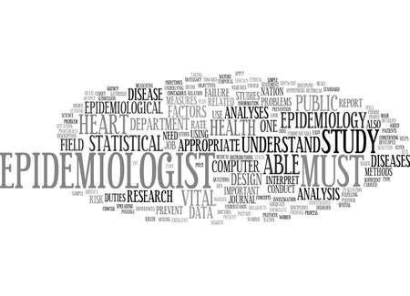 EPIDEMIOLOGY Text Background Word Cloud Concept Illustration