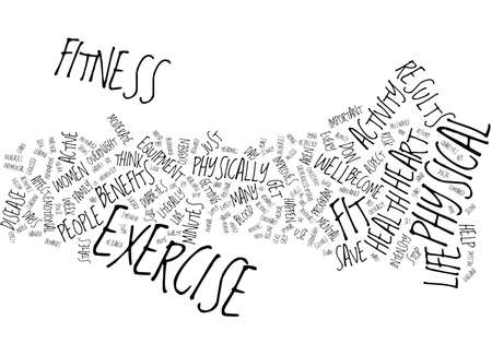 FITNESS CAN SAVE YOUR LIFE Text Background Word Cloud Concept