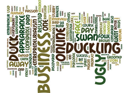 ENTREPRENEURIALISM A DUCK BY ANY DIFFERENT COLOR Text Background Word Cloud Concept Ilustração