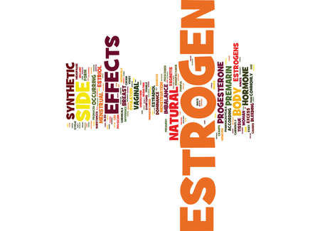 ESTROGEN SIDE EFFECTS DO YOU KNOW THEM Text Background Word Cloud Concept