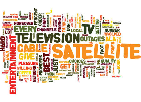 ENTERTAINMENT ALA SATELLITE TV Text Background Word Cloud Concept 向量圖像