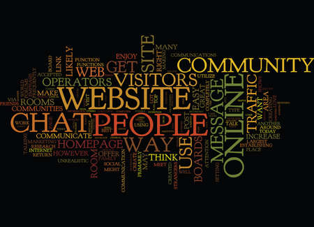 ESTABLISH YOUR OWN ONLINE COMMUNITY TO INCREASE WEBSITE TRAFFIC Text Background Word Cloud Concept Illustration