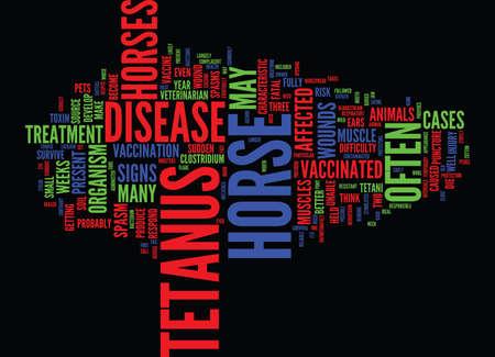 EQUINE TETANUS AN UNNECESSARY DISEASE Text Background Word Cloud Concept