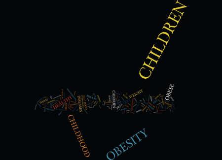 小児肥満本文背景単語クラウド コンセプトの精神的外傷を回避します。