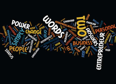 ENTREPRENEURIALISM THE POWER OF THE WHAT IF Text Background Word Cloud Concept