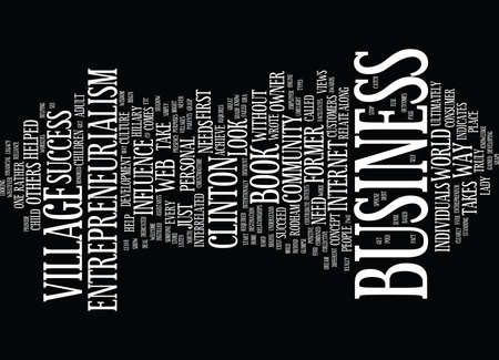 ENTREPRENEURIALISM TAKES A VILLAGE Text Background Word Cloud Concept