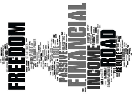 FINANCIAL FREEDOM ARE YOU READY TO TAKE CONTROL OF YOUR FUTURE Text Background Word Cloud Concept