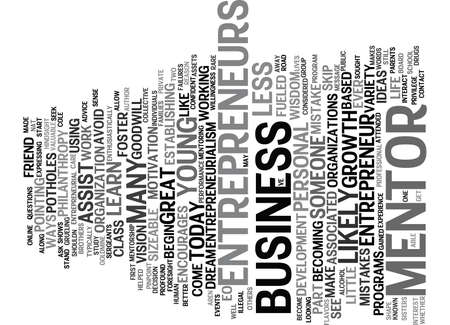 ENTREPRENEURIALISM AND MENTORSHIP Text Background Word Cloud Concept Illustration