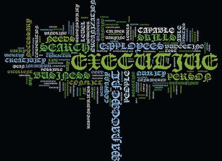 BÚSQUEDA EJECUTIVA PARA PERSONAS OCUPADAS Texto Fondo Palabra Nube Concepto Foto de archivo - 82608093
