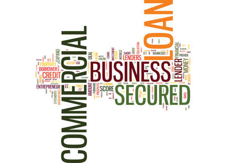 even: ELIMINATE FINANCIAL ANXIETIES WITH COMMERCIAL SECURED LOAN Text Background Word Cloud Concept